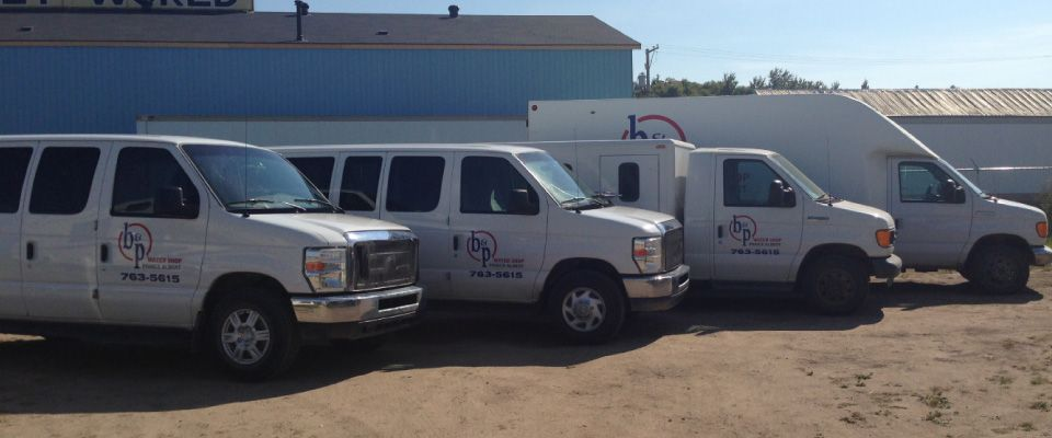Our fleet of delivery vans
